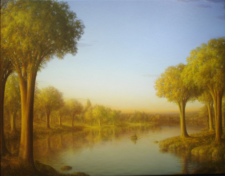 Photo of Mike's painting, The Rower.
