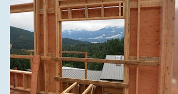Photo of structural framing.